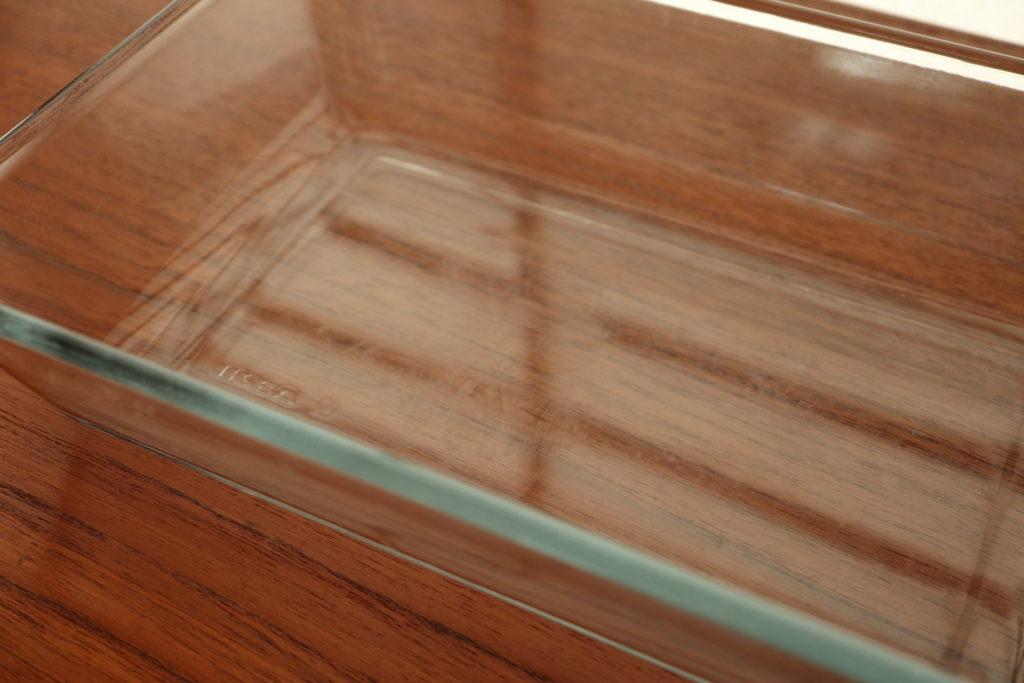 イケアの耐熱ガラス皿