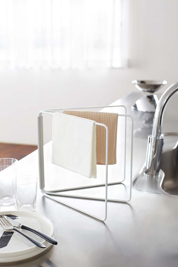 折り畳み式ふきんハンガーは場所をとる