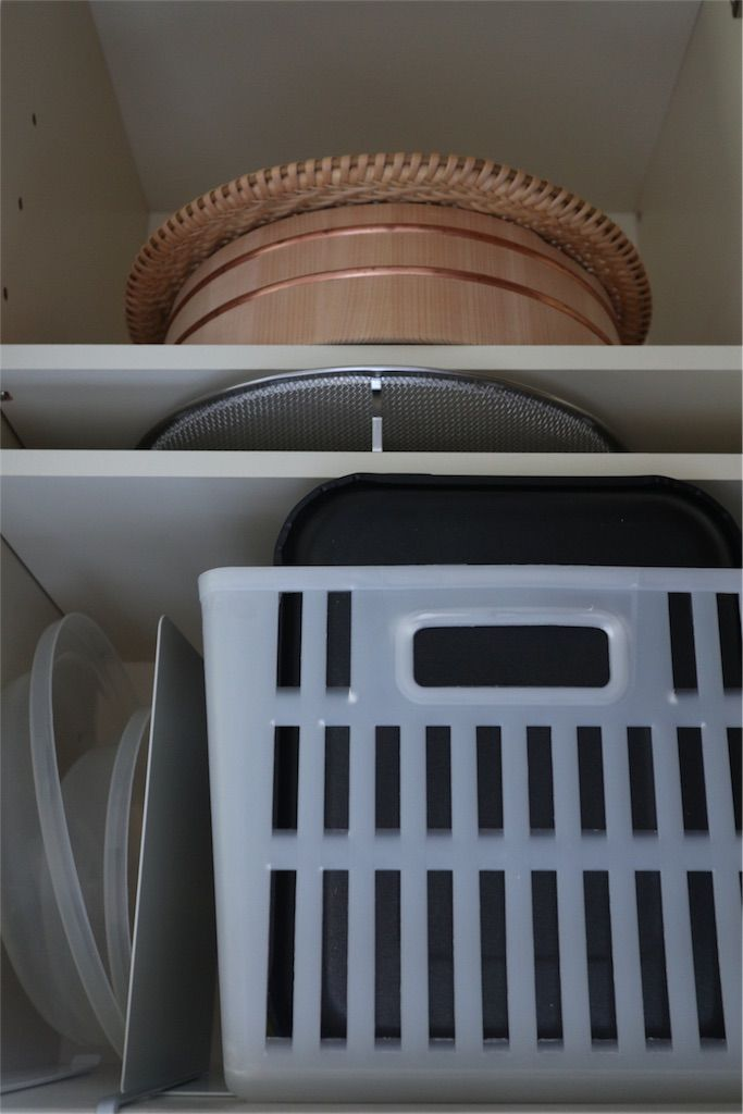 吊戸棚収納の中を断捨離