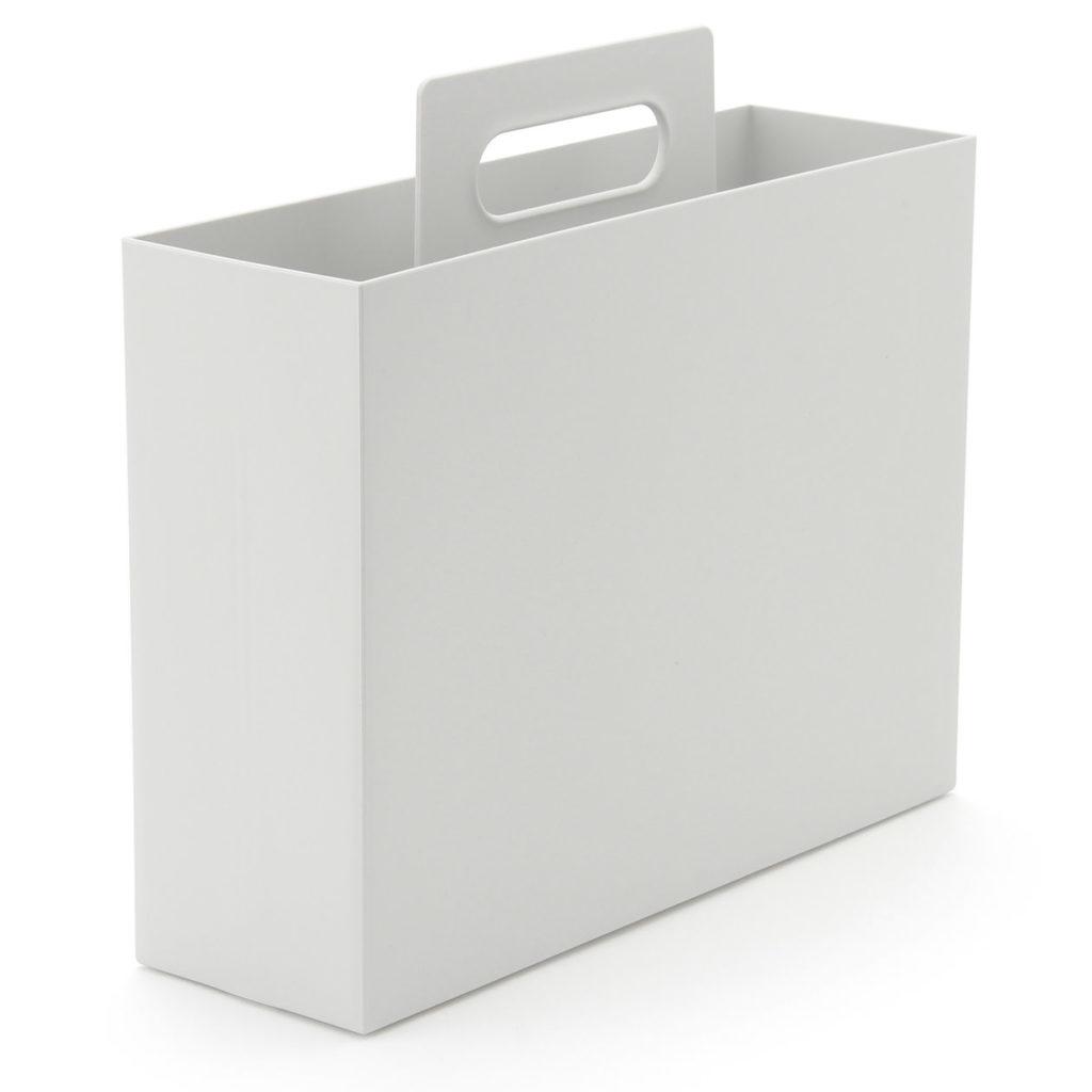 無印ポリプロピレン持ち手付きファイルボックスを洗濯用ハンガー収納に