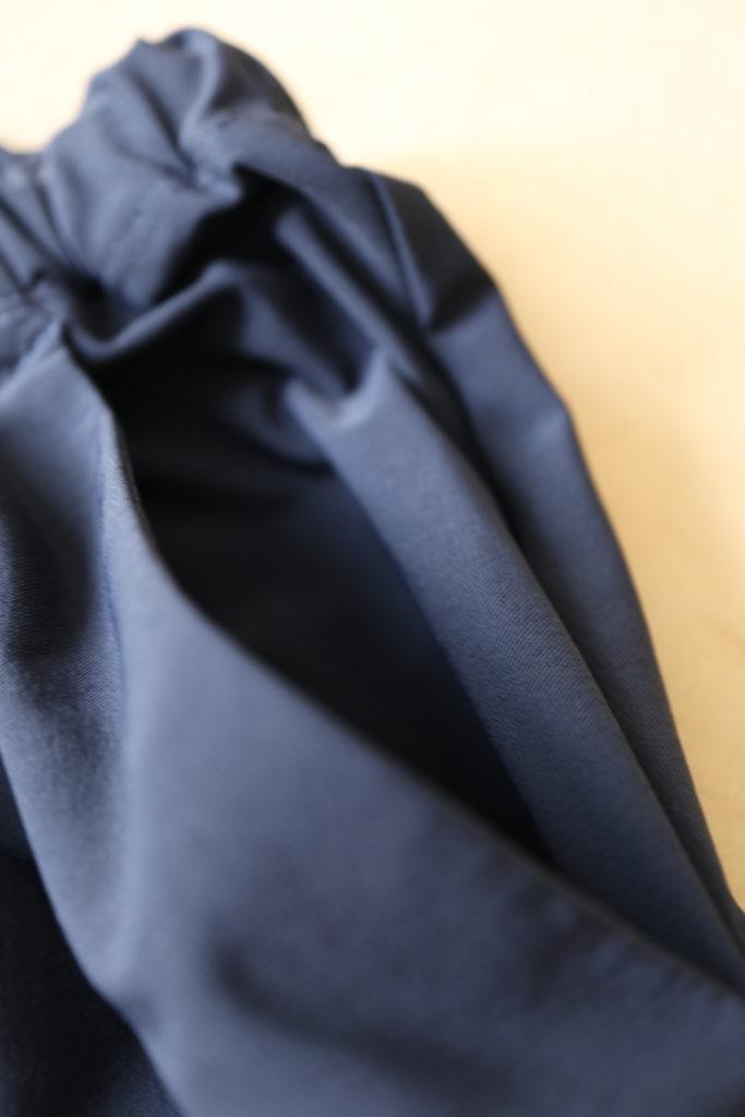 ダンスキンのワイドクロップパンツは左右に大きなポケットあり