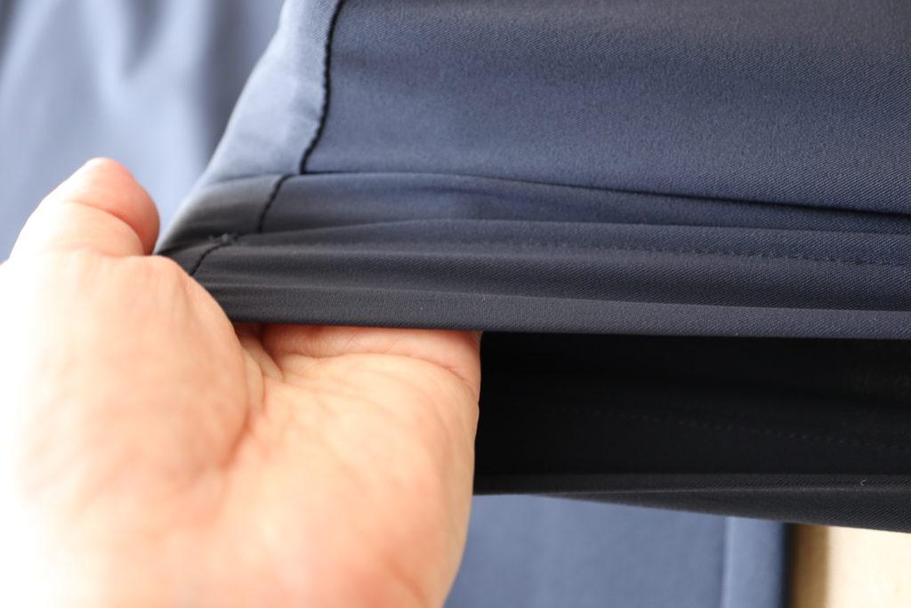 ダンスキンのワイドクロップパンツは、ストレッチが効いてよく伸びてラク