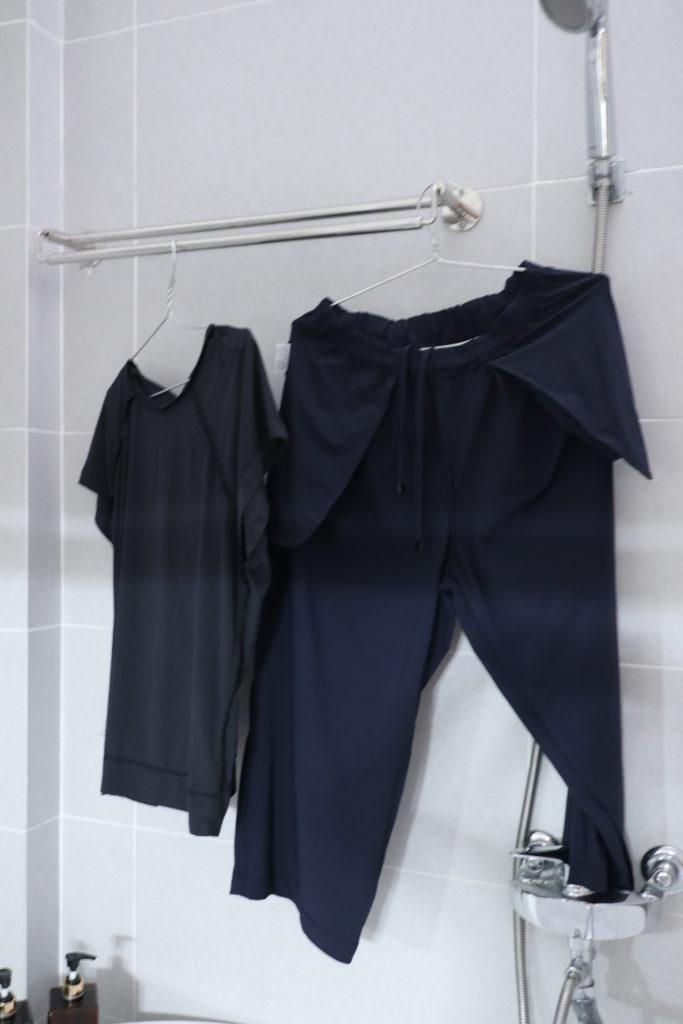ダンスキンのフィットネスウェアは手洗いでもすぐに乾くので、旅にぴったり