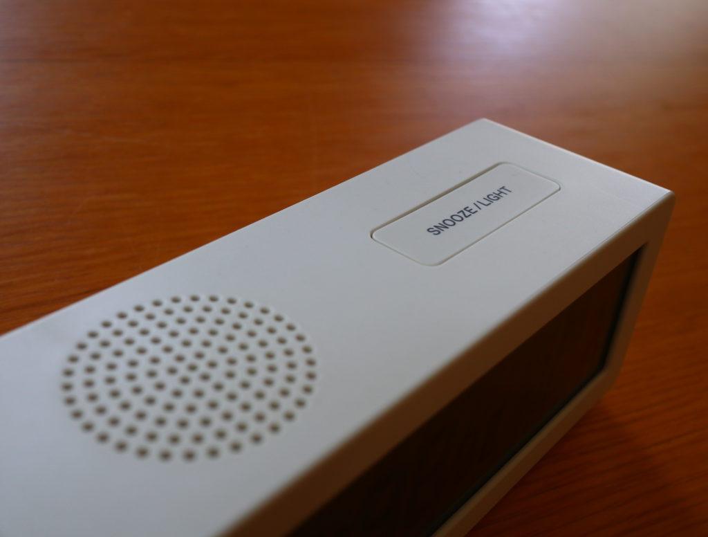 無印デジタル電波時計スヌーズとバックライトボタン