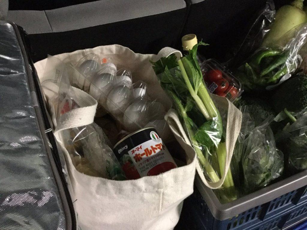 スーパーでの食材の買い物は週一度だけ