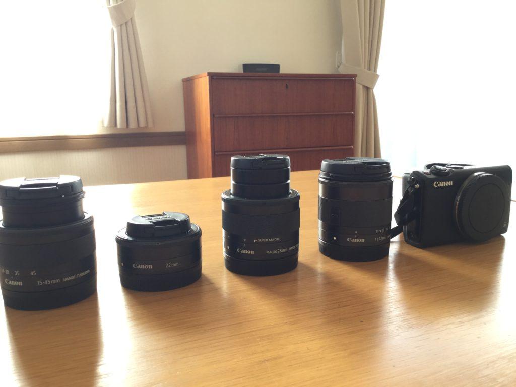 CANONミラーレス一眼EOSM100と純正レンズ