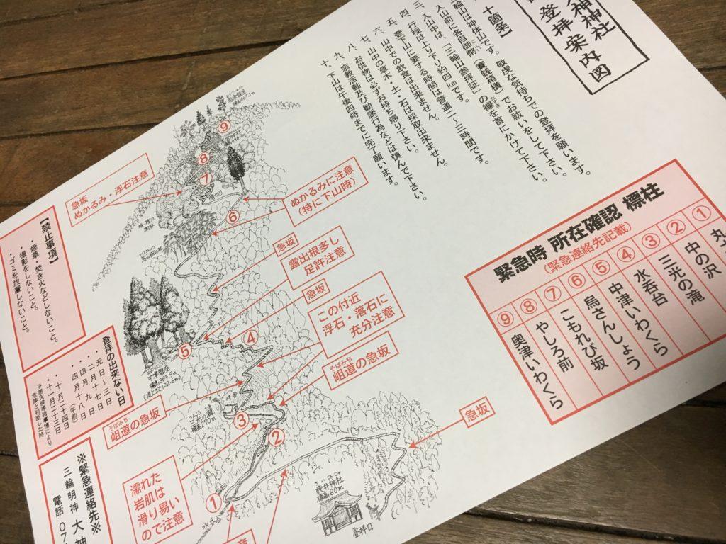 大神神社 三輪山登山の案内書
