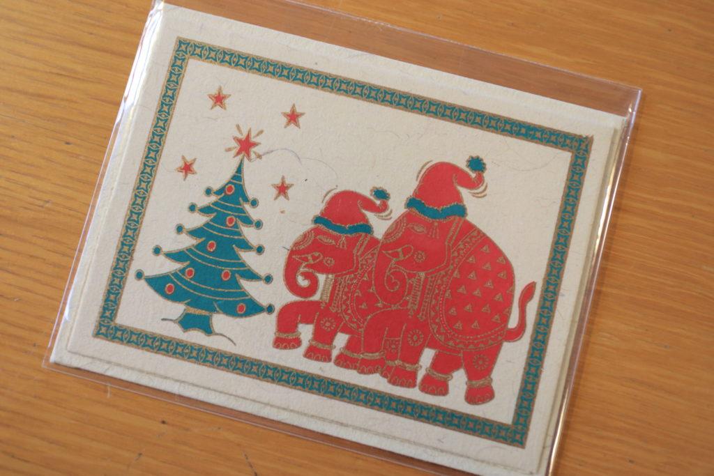 青空カフェのインド製クリスマスカード