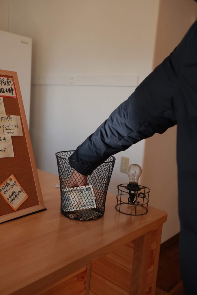 下諏訪移住者用施設ホシスメバで自家焙煎コーヒーイベント