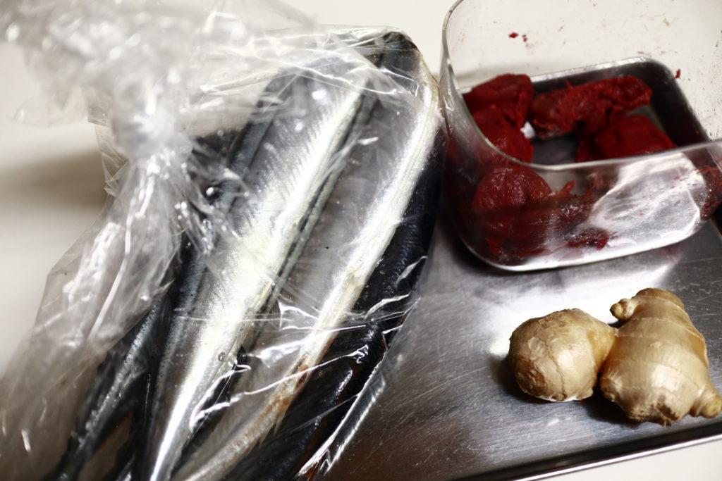 フィスラーの圧力鍋でさんまの梅生姜煮レシピ