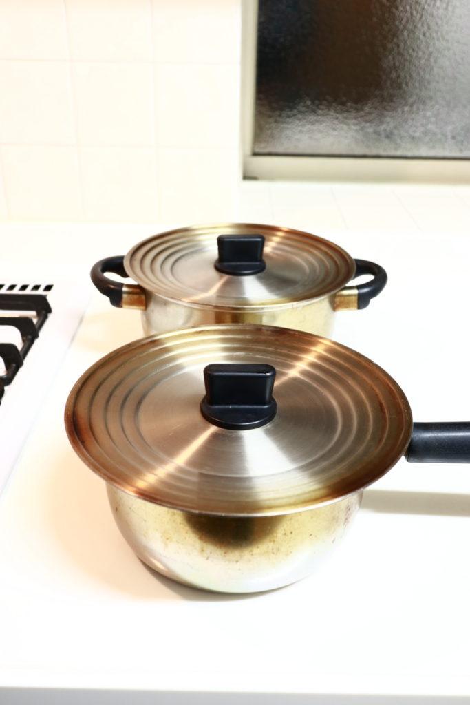 無印良品の兼用蓋をmiyacoのステンレス鍋に