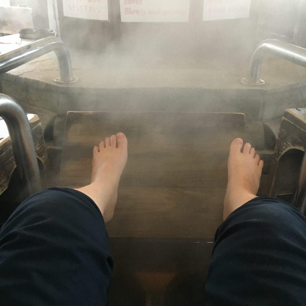 鉄輪温泉の足蒸し