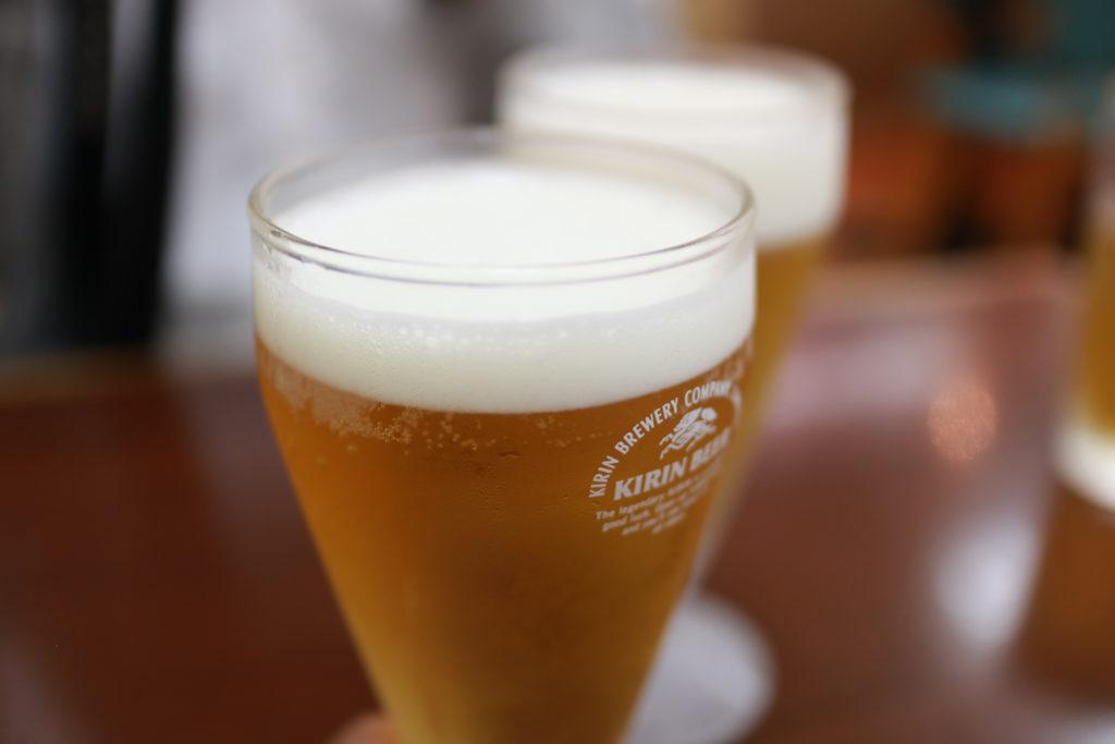 蒲田三大羽根つき餃子、金春のランチビール200円