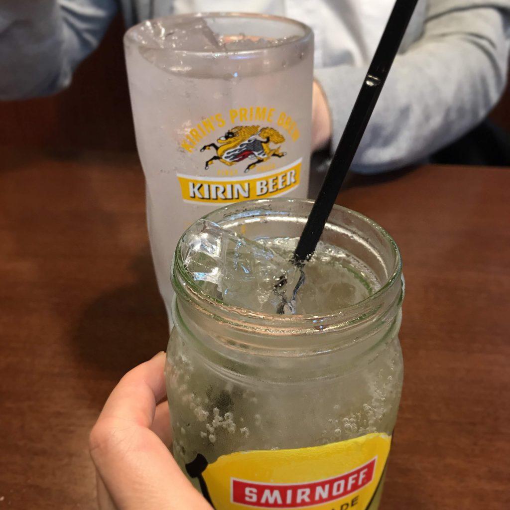 蒲田の三大羽根つき餃子ニーハオでスミノフレモネード