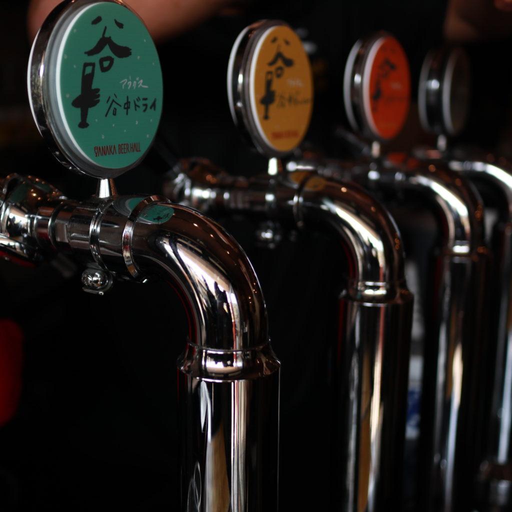 谷中ビアホールのクラフトビール