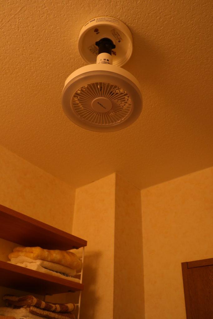 ドウシシャのサーキュライトDSLS60LWHを洗面所の天井に取り付ける