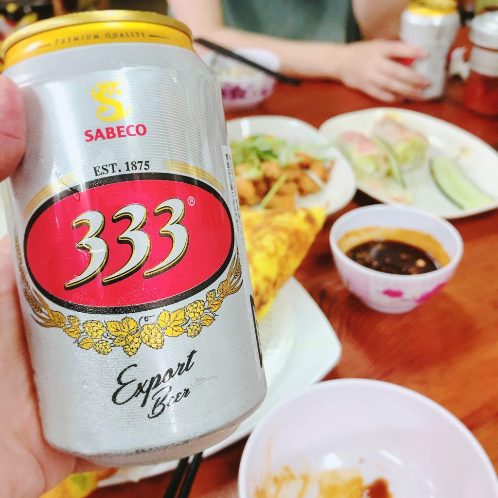 横浜市いちょう団地のベトナム料理食堂タン・ハーでベトナムビール333(バーバーバー)