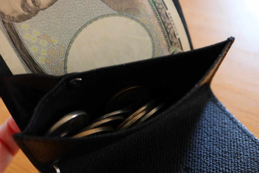 abrAsusアブラサスの小さい財布レビュー、小銭の収納方法