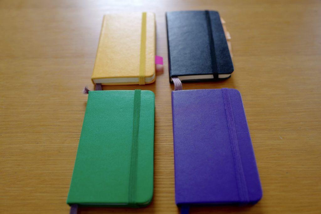 ミニマリストはモレスキンMOLESKINポケットノートを手帳代わりに使います。