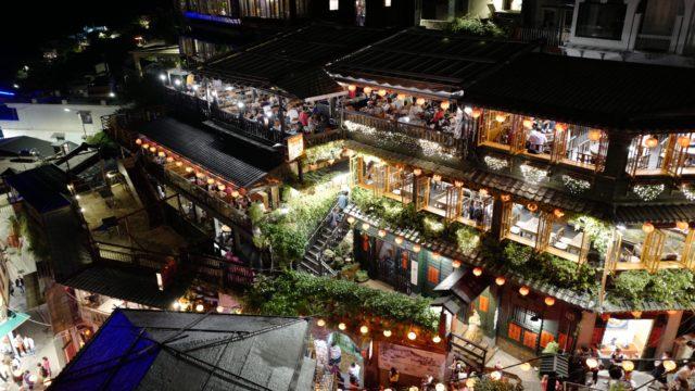 ジブリ『千と千尋の神隠し』の街九份(きゅうふん)の夜景を撮る