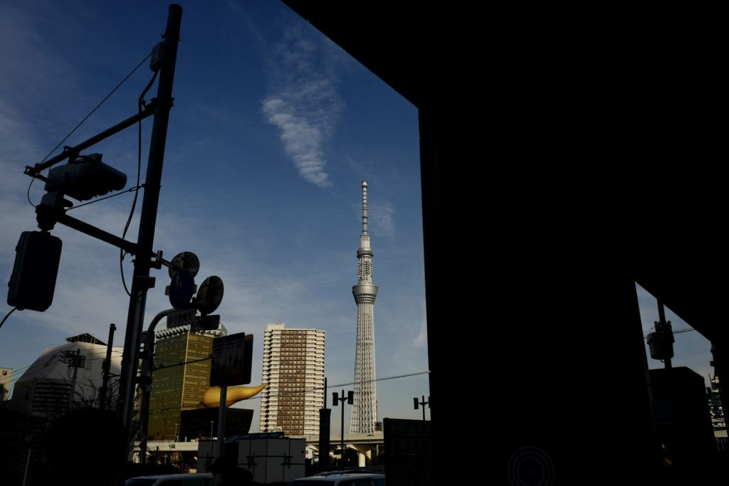 LeicaQ作例:隅田川テラスから見る東京スカイツリー