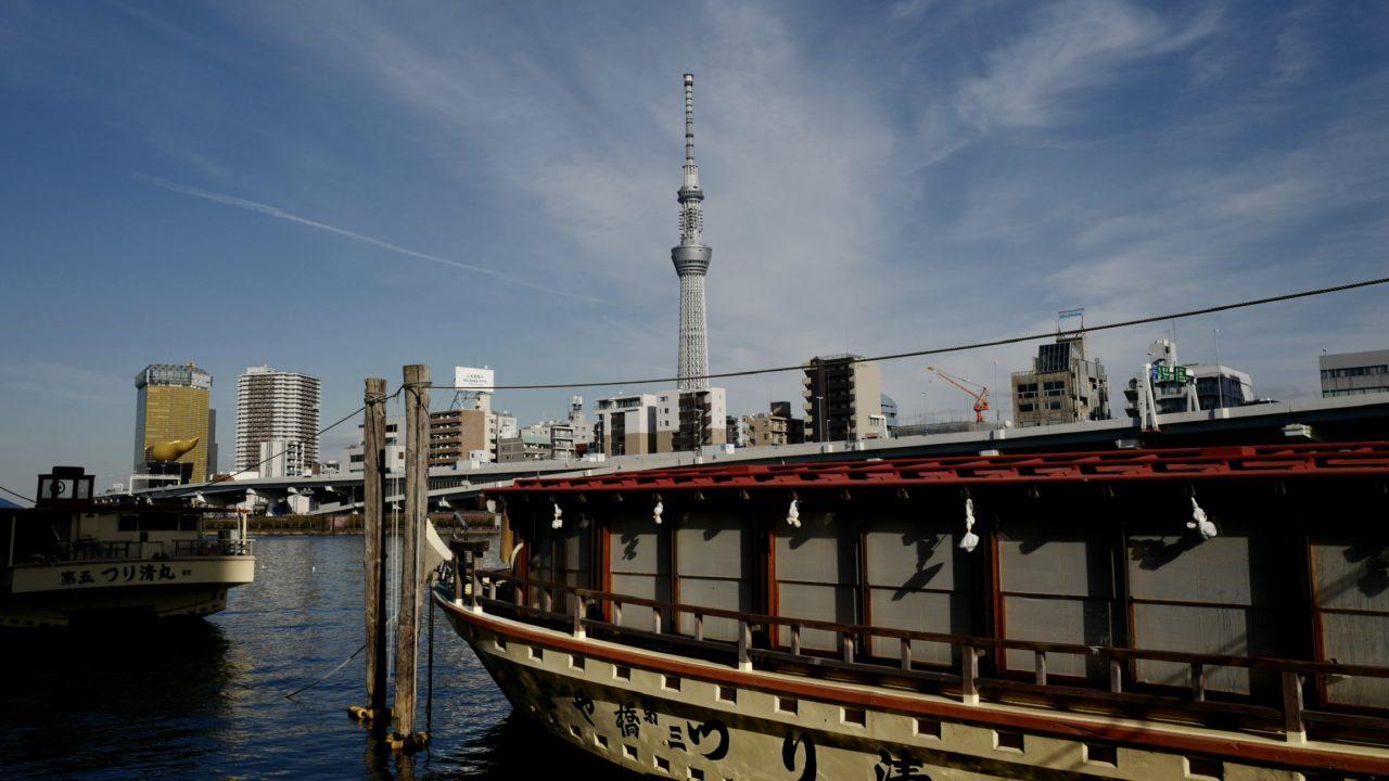eicaQ作例:隅田川テラスから見る東京スカイツリー