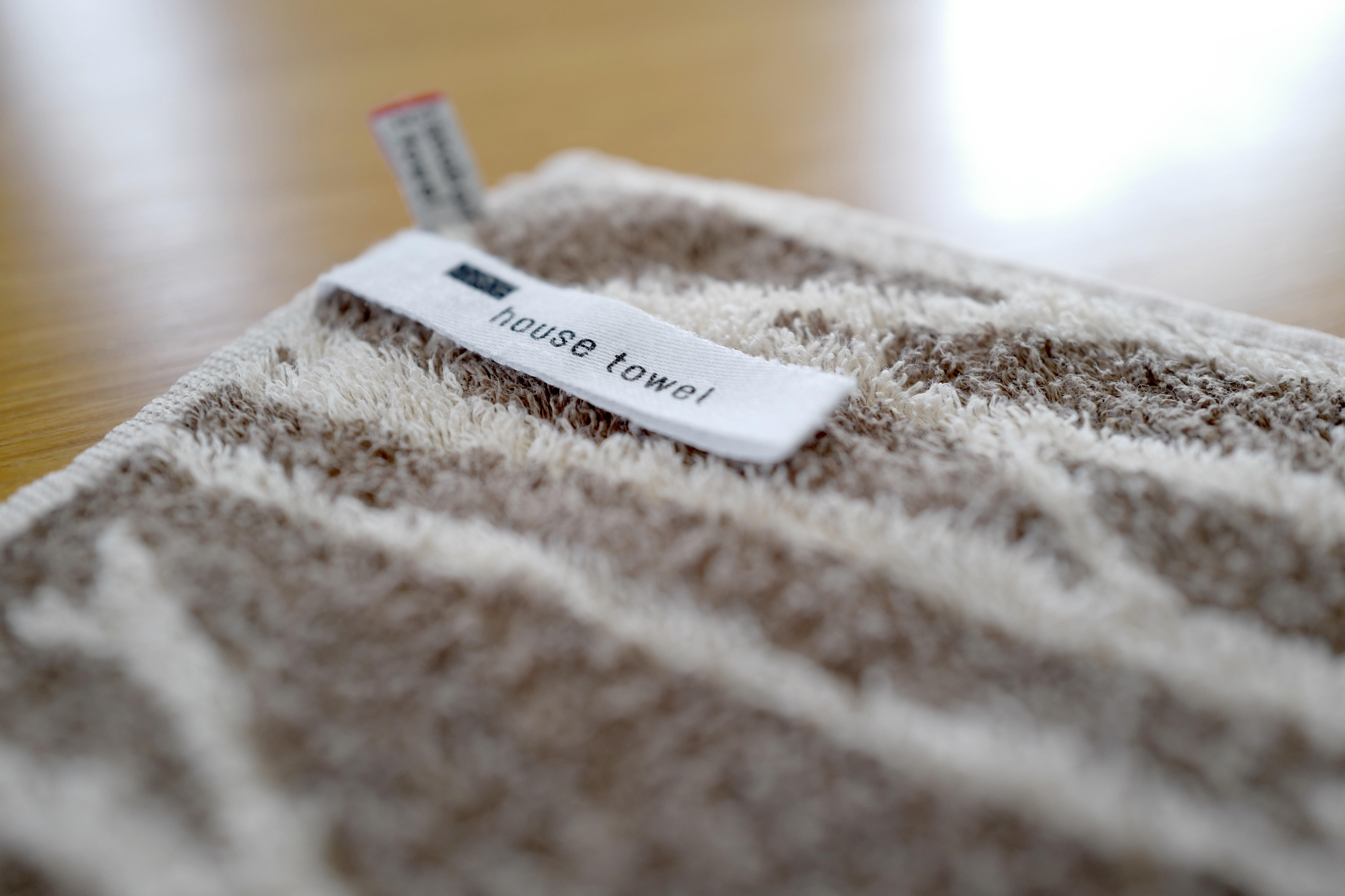 【バスタオル要らなーい】ミニマムサイズの定番タオルを、シンプルなルールで循環&使い切っています。