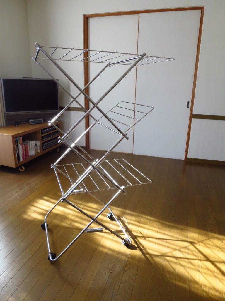 大木製作所ステンレスタワー室内物干し3段サイズ