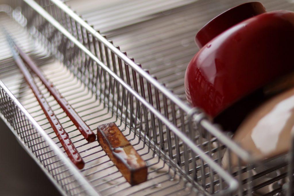 ラ・バーゼの箸かごは横置きタイプで使いやすい