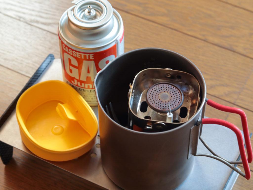 イワタニカセットガスジュニアバーナーを使った湯沸しセット一式のまとめ