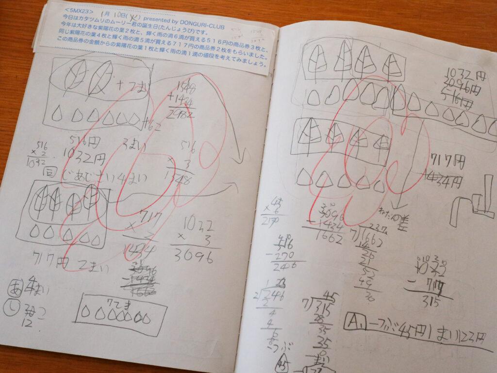 どんぐり倶楽部「良質の算数文章問題」わが家の活用例