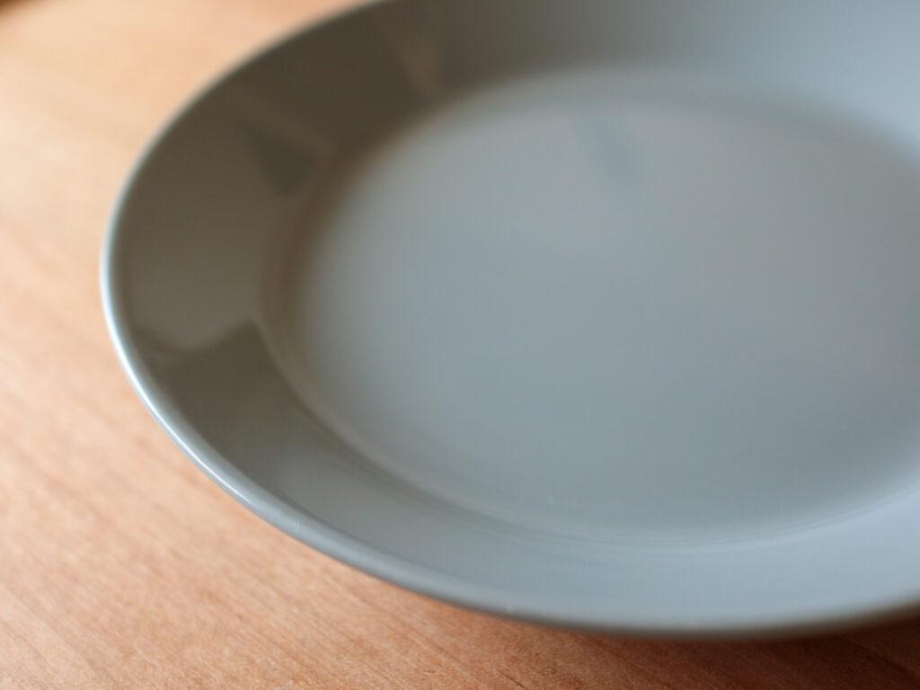 ひとり暮らし用ミニマム食器6点セット:イッタラティーマ17cmプレート パールグレー