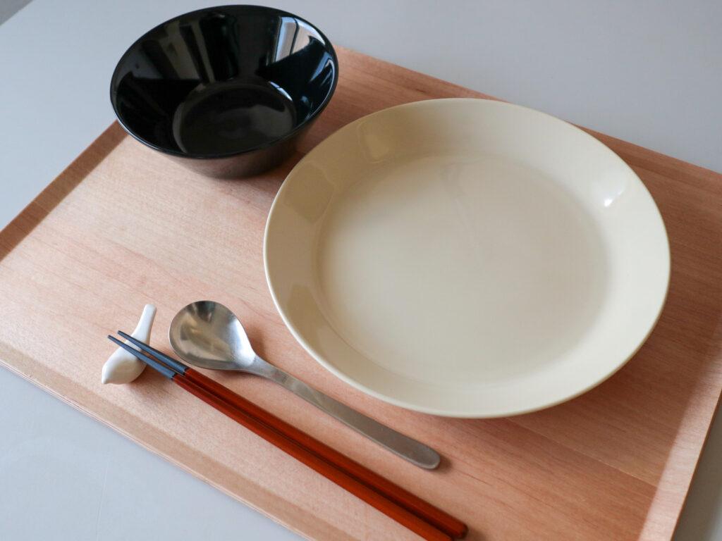 ひとり暮らし用ミニマム食器6点セットの組み合わせ例